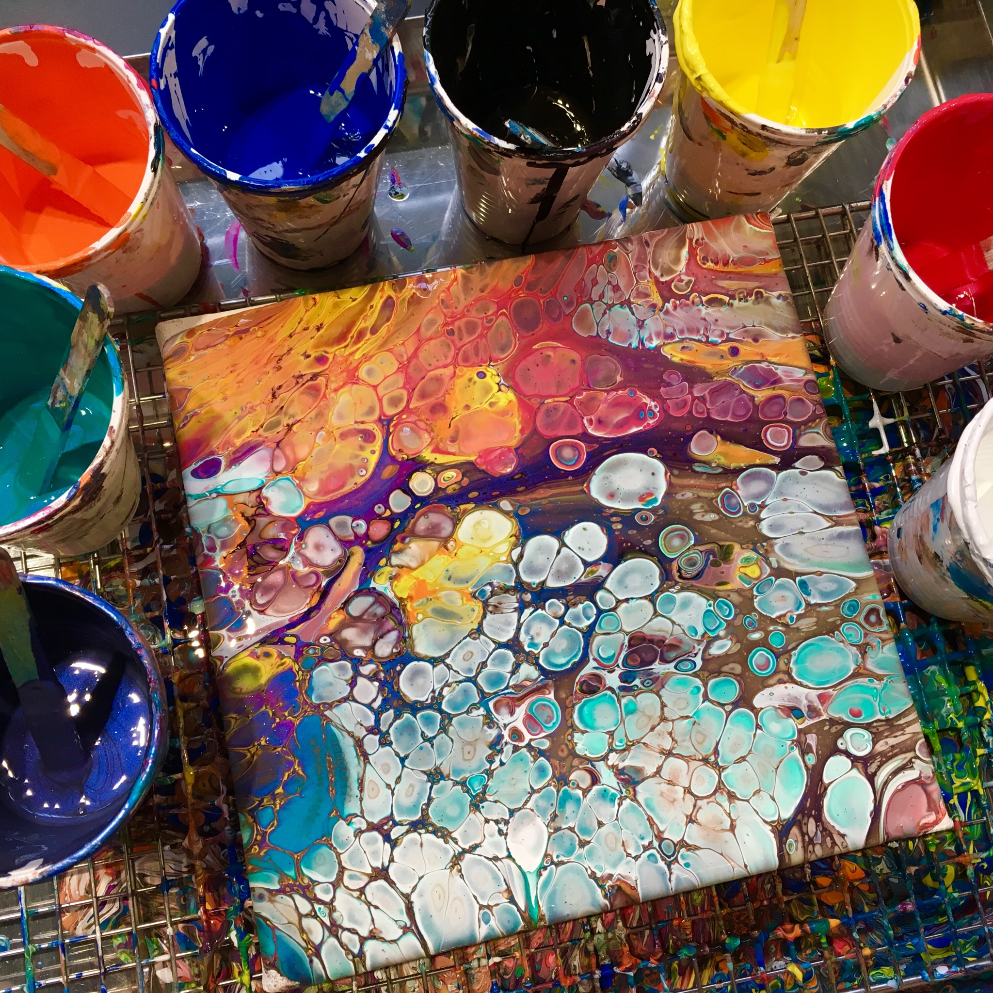 Acrylic Pouring for beginners with Jenny Muncaster
